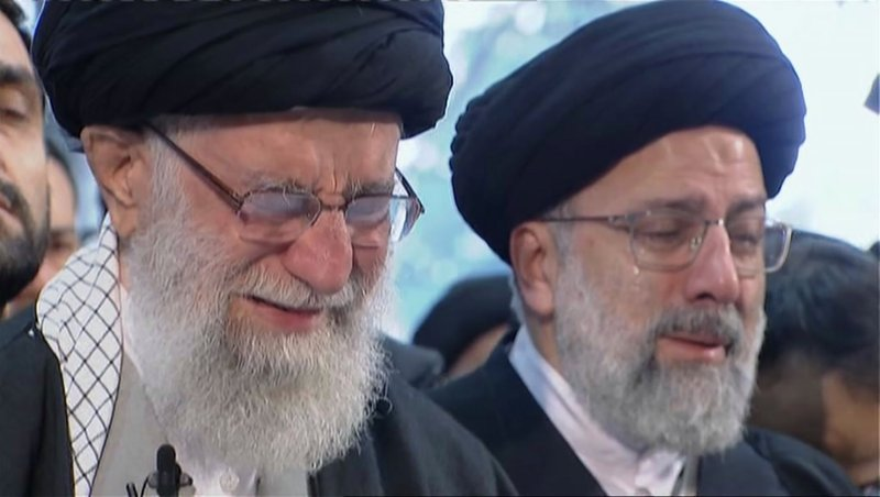 Throngs Mourn Iranian Leader Weeps For General Slain By U S