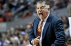Auburn coach Bruce Pearl reacts to a call during the first half of the team's NCAA college basketball game against Lehigh on Saturday, Dec. 21, 2019, in Auburn, Ala. (AP Photo/Julie Bennett)