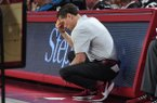 Image from Arkansas' 77-79 loss to South Carolina Wednesday Jan. 29, 2020 at Bud Walton Arena in Fayetteville. Go to nwaonline.com/uabball/ for more images.