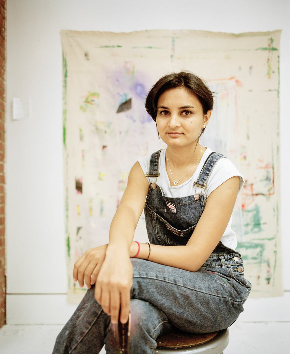 """""""Ever since I remember, I have always been making something with my hands or painting on every surface around me,"""" says artist Ziba Rajabi. (Courtesy Photo/Josh Loeser)"""