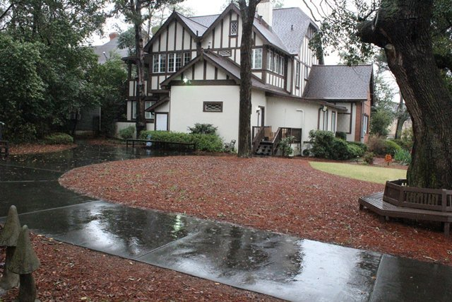 This Tudor house in Macon, Ga., is the home of The Allman Brothers Band Museum at The Big House. (The Atlanta Journal-Constitution/Melissa Ruggieri)