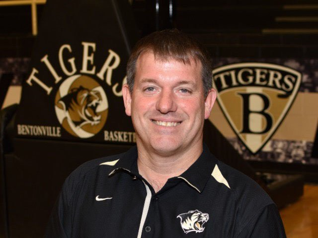 Bentonville coach Tom Halbmaier was named by the Division I girls basketball coach of the year by the NWADG sports staff.