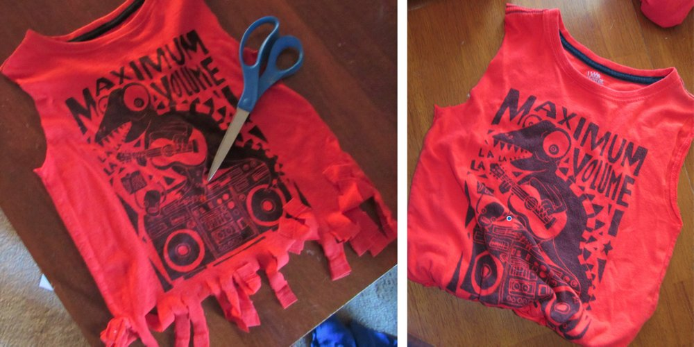 Turning a T-shirt into a tote bag requires a shirt, scissors and a plan. (Special to the Democrat-Gazette/Kimberly Dishongh)