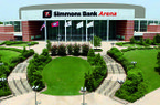 Arkansas has played at least one basketball game at Simmons Bank Arena in North Little Rock each year since 1999.