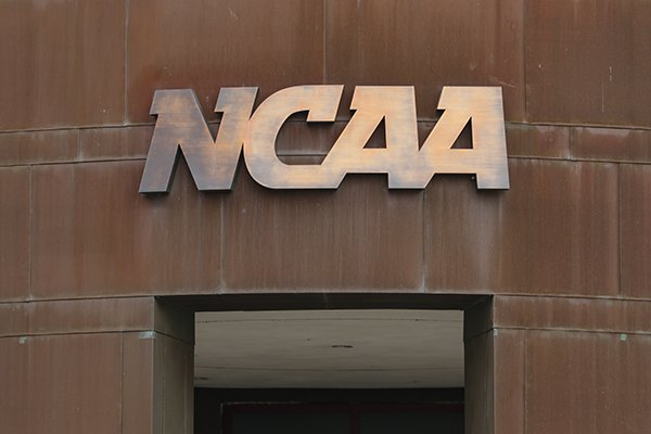 The national office of the NCAA is shown in Indianapolis, Thursday, March 12, 2020. (AP Photo/Michael Conroy)