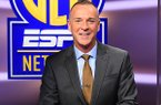 """Jimmy Dykes sits on the set of """"SEC Now"""" on Tuesday, Nov. 28, 2017, in Charlotte, N.C."""