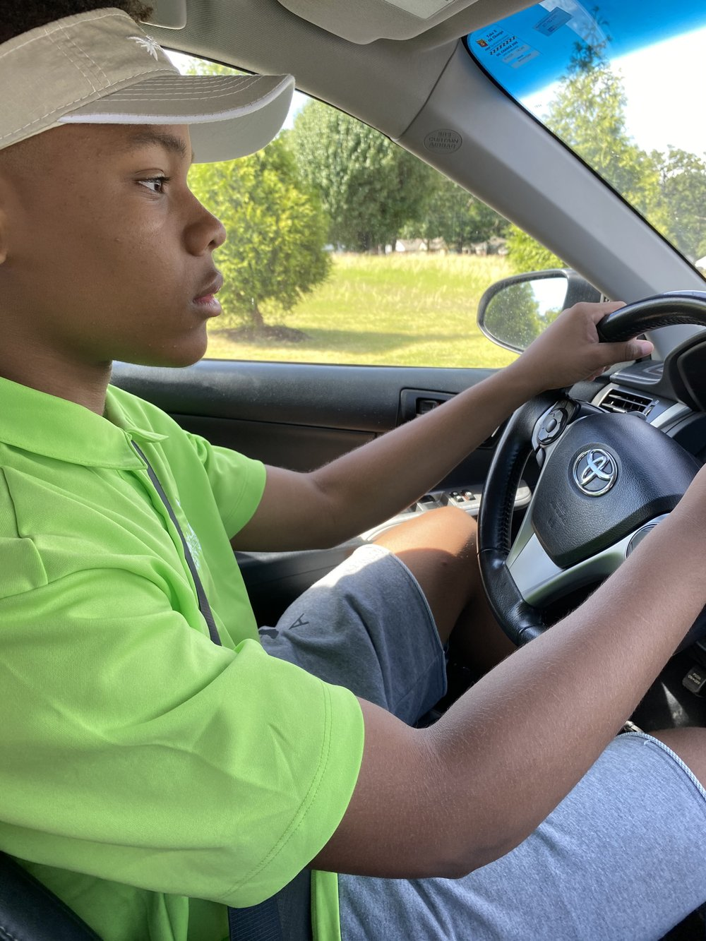 Fifteen-year-old Addison Shelton of Maumelle has been preparing to drive for a year and recently passed his driving skills test. (Special to the Democrat-Gazette/Yolanda Shelton)