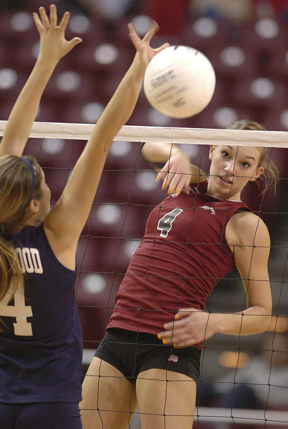 Hannah Allison Asafo-Adjei led Siloam Springs to four consecutive state volleyball titles, then helped Texas to three Final Four appearances and a national championship. (NWA Democrat-Gazette file photo)