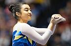 UCLA's Felicia Hano during an NCAA gymnastics meet on Saturday, Jan. 4, 2020 in Anaheim, Calif. (AP Photo/Kyusung Gong)