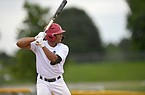 Christian Franklin plays during a Perfect Timing College Baseball game Monday June 8, 2020 at Tyson Park in Springdale.