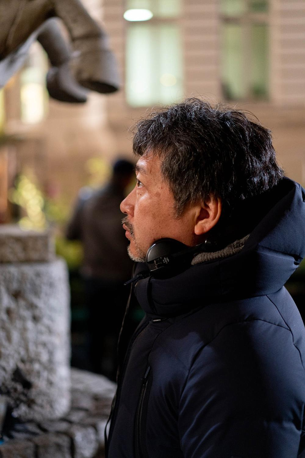 Hirokazu Koreeda shot his latest film in French, in France, with a French crew even though he doesn't speak the language himself. All he needed, he says, was a good bilingual person at his side.