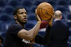 Joe Johnson, playing for Overseas Elite in The Basketball Tournament in 2020, played at Arkansas from 1999-2001 and was a first-round pick of the Boston Celtics in the 2001 NBA Draft. (AP Photo/Aaron Gash)