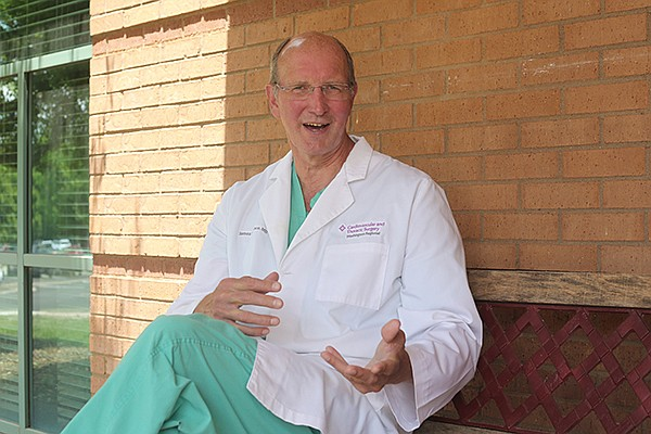 Dr. Jim Counce is shown Tuesday, June 16, 2020, outside the Washington Regional Cardiovascular and Thoracic Surgery clinic in Fayetteville.