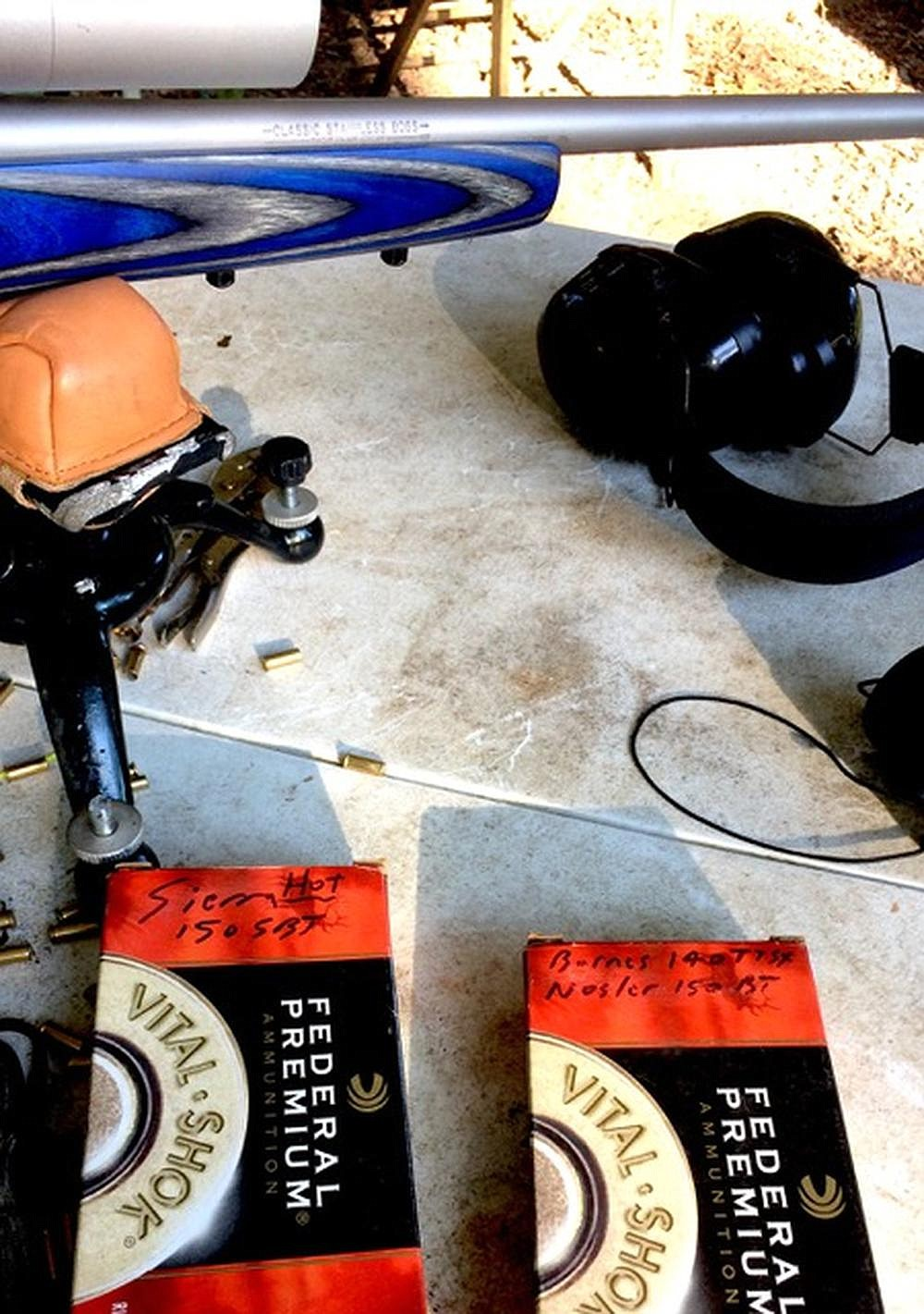 Using a simple Lee Classic Loader, the author built several different 7mm Magnum loads for hunting and target shooting. (Arkansas Democrat-Gazette/Bryan Hendricks)
