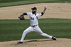 Chicago White Sox starting pitcher Dallas Keuchel throws the ball against the Minnesota Twins during the fifth inning of a baseball game in Chicago, Saturday, July 25, 2020. (AP Photo/Nam Y. Huh)