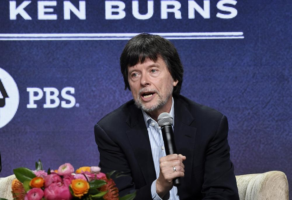 "Ken Burns, director of the PBS documentary series ""Country Music,"" speaks in a panel discussion during the Television Critics Association Summer Press Tour on July 29, 2019, in Beverly Hills, Calif.  (Photo by Chris Pizzello/Invision/AP, File)"