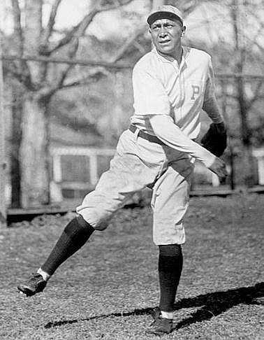 Moses  J.  Yellow  Horse,  who pitched  for  the  Pittsburgh  Pi-rates in this 1921 or 1922 pho-to, was kind to a then-12-year-old Dee Brown. (Courtesy  National  Baseball  Hall of Fame)