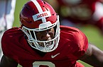 Arkansas defensive back Jerry Jacobs is shown during practice Friday, Aug. 21, 2020, in Fayetteville.