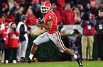 Georgia wide receiver Dominick Blaylock gains yardage against Missouri during an NCAA college football game Saturday, Nov. 9, 2019, in Athens, Ga. (AP Photo/John Amis)