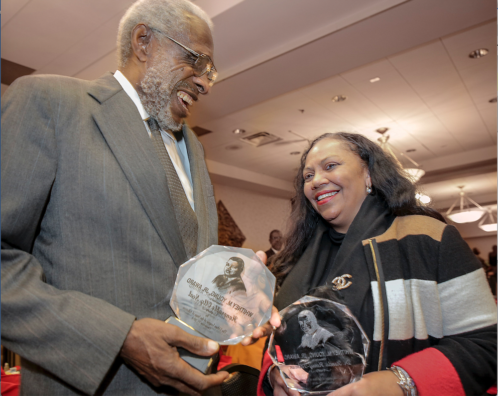 Judge  Olly  Neal  Jr.  and  Dr.  Ronda  Henry-Tillman  were  the  2019  recipients of The Urban League of the State of Arkansas' annual Whitney M. Young Jr. Awards. (Democrat-Gazette file photo)