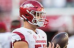 Arkansas offensive lineman Beaux Limmer is shown during the Razorbacks' game against Alabama on Saturday, Oct. 26, 2019, at Bryant-Denny Stadium in Tuscaloosa, Ala.