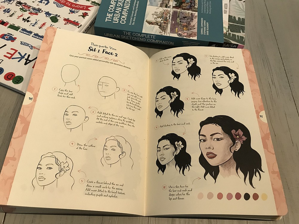 "This is a page from ""10 Steps for Drawing People."""