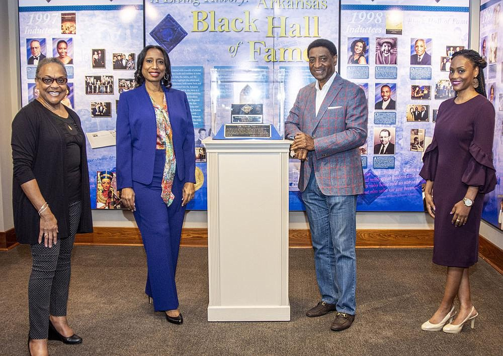 There won't be an Arkansas Black Hall of Fame induction ceremony in October. But the foundation committee — Paula Patterson, grants chairwoman; Taren Robinson, production chairwoman; Charles O. Stewart, general chairman and Michelle Smith, displays chairwoman — have been busy making sure that the hall of fame, its inductees and their legacy will remain in the hearts and minds of supporters and the community.