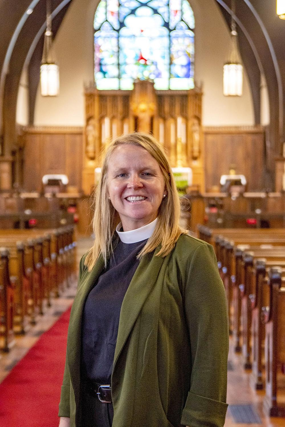 """""""I'm really excited about being a part of the life of the Cathedral and with the life of the Diocese of Arkansas. I think that there's so much goodness and richness that's going to come from being in ministry with the people there."""" — Amy Meaux (Arkansas Democrat-Gazette/Cary Jenkins)"""