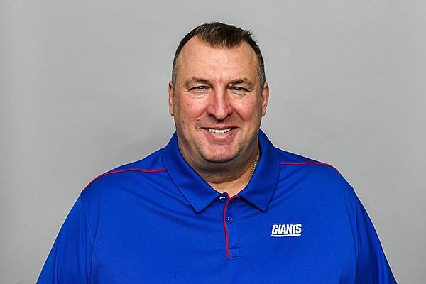 This is a March 5, 2020, photo of Bret Bielema of the New York Giants football team. (AP Photo)