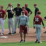 Arkansas fall baseball practice