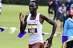 Arkansas' Emmanuel Cheboson runs during the SEC Preview meet Saturday, Sept. 19, 2020, in Baton Rouge, La.
