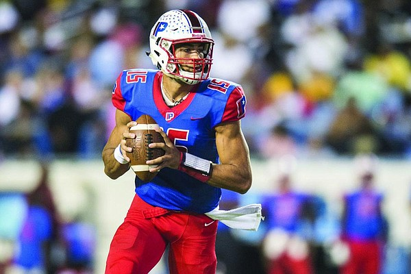 Landon Rogers of Little Rock Parkview leads the Patriots against Benton on Friday night in a matchup between the third- and fourth-ranked teams in Class 6A.(Arkansas Democrat-Gazette file photo)