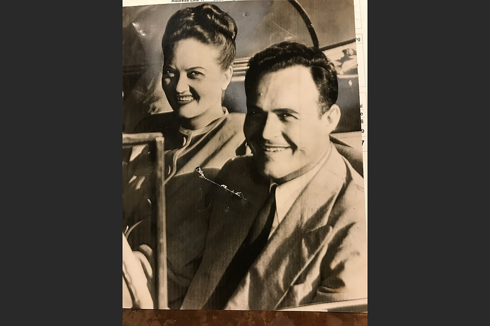 Anne and Sid McMath were heading out for a drive in 1946 when this photo was taken. (Courtesy of Phillip H. McMath)