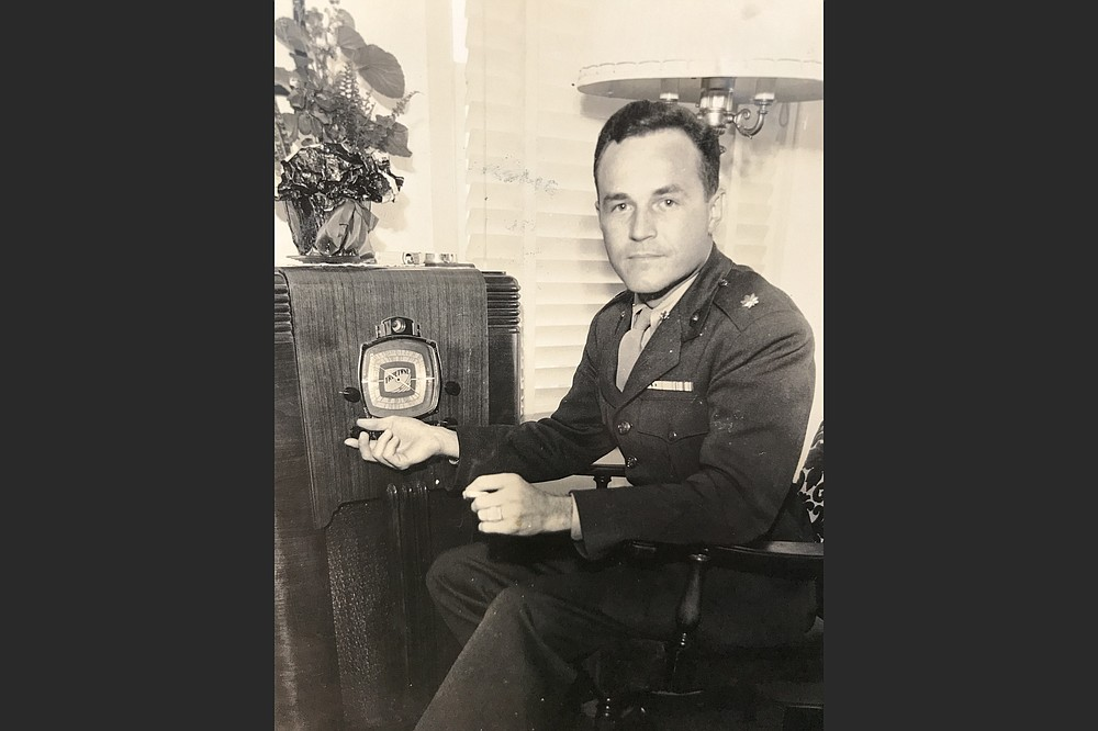 Sid McMath was photographed at home in 1945, just after he returned home from World War II. (Courtesy of Phillip H. McMath)