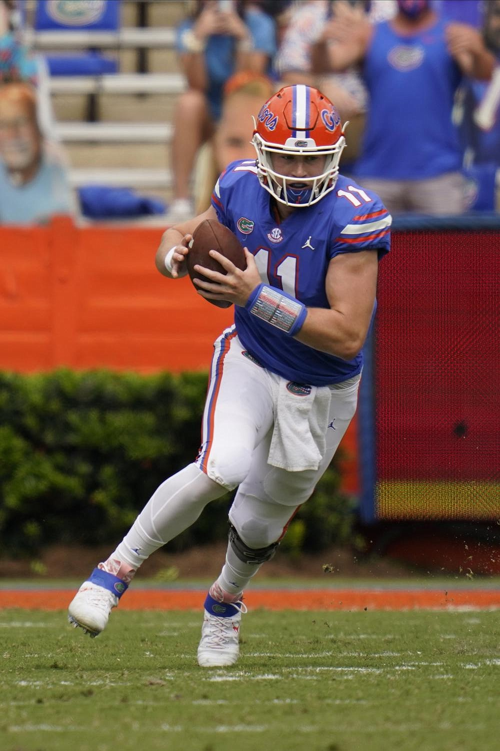It's early in the season, but Kyle Trask's hot start has him high on most Heisman Trophy lists. He has a 71.8% completion rate (51 of 71) for 684 yards and 10 touchdowns with 1 interception in victories over Ole Miss and South Carolina. (AP/John Raoux)