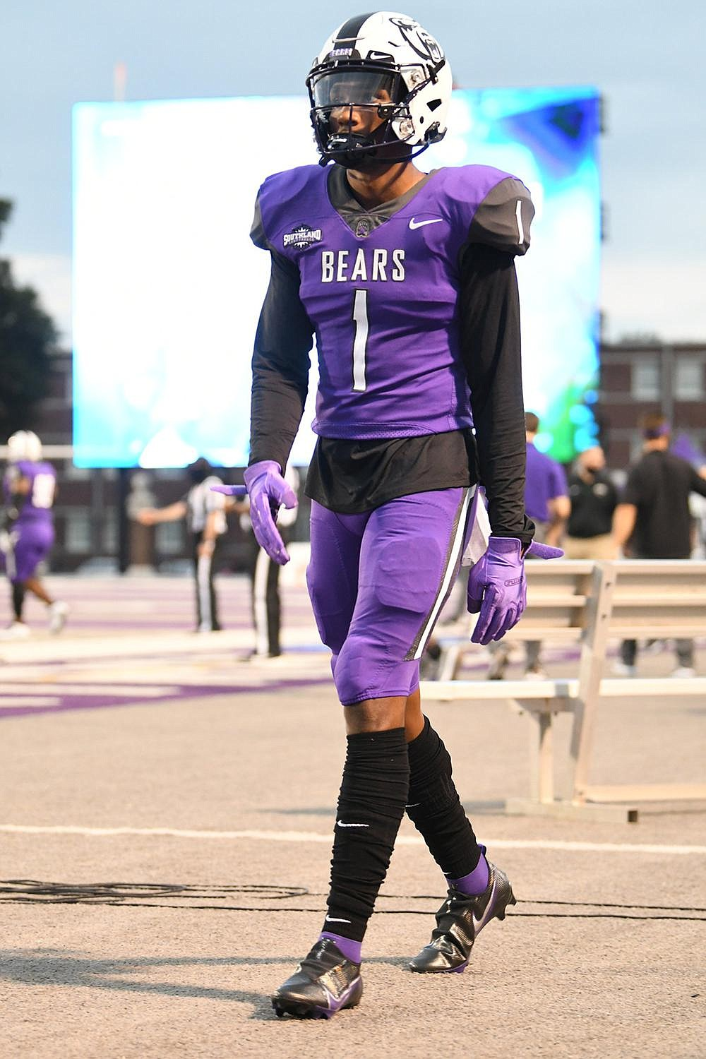 Tyler Hudson, a sophomore from Spring, Texas, has 15 catches for 225 yards and 2 touchdowns this season for the UCA Bears.