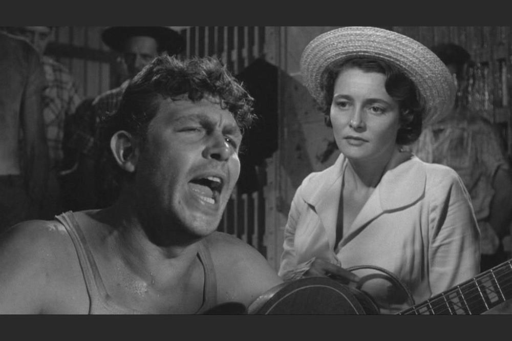 """Andy Griffith and Patricia Neal star in Elia Kazan's 1957 film """"A Face in the Crowd.""""  (Democrat-Gazette file photo)"""
