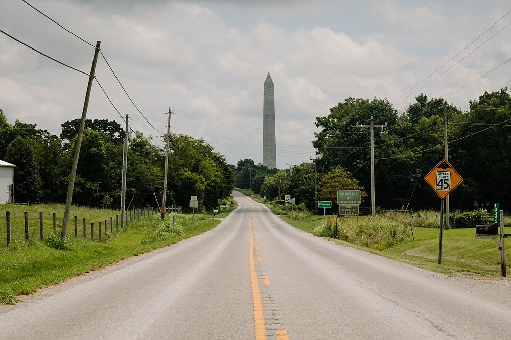 The Jefferson Davis Monument in Fairview, Ky., is about to receive a statue of Davis that was removed from the Kentucky Capitol rotunda in Frankfort.  (The New York Times/Andrew Cenci)