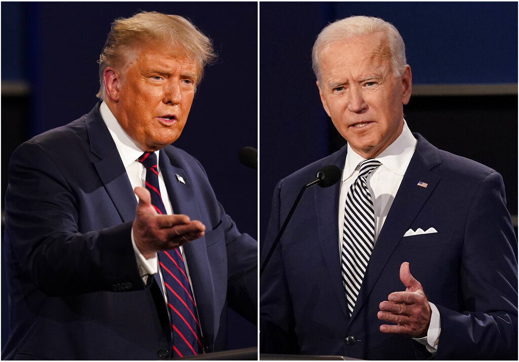 Trump, Biden speak out in dueling town halls