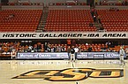 Fans begin to filter in at Gallagher-Iba Arena in Stillwater, Okla., for an NCAA college basketball game between Oklahoma State and Texas in this 2011 file photo. (AP Photo/Sue Ogrocki)