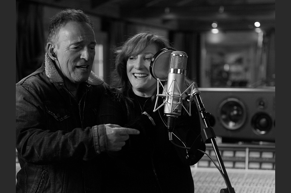 "Bruce Springsteen and Patti Scialfa in a scene from ""Bruce Springsteen's Letter to You.""