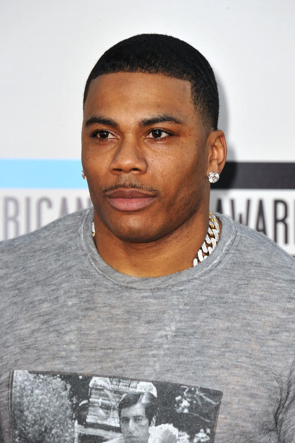Nelly arrives at the American Music Awards at the Nokia Theatre L.A. Live on Sunday, Nov. 24, 2013, in Los Angeles. (Photo by Jordan Strauss/Invision/AP)