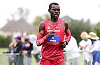Arkansas Amon Kemboi runs during the SEC Cross Country Championships on Friday, Oct. 30, 2020, in Baton Rouge, La.