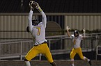 Ashdown tight end Shamar Easter (7) catches a touchdown pass during a game against Robinson on Friday, Oct. 30, 2020, at Charlie George Stadium in Little Rock.