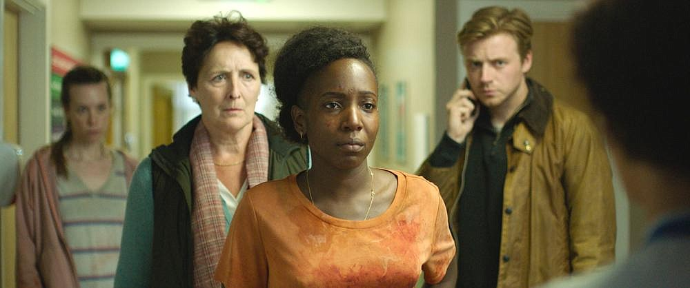 "Margaret (Fiona Shaw) and her stepson Thomas (Jack Lowden) seek to manipulate the pregnant Charlotte (Tamara Lawrance) in ""Kindred,"" a psychological horror film with a lot of subtext."