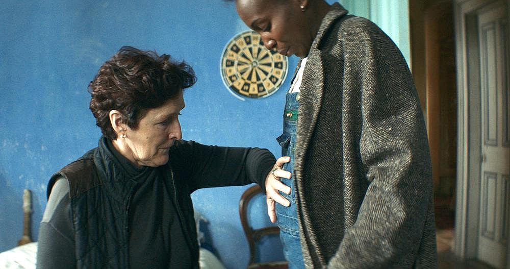 "Margaret (Fiona Shaw) is determined to keep Charlotte (Tamara Lawrance), who is carrying her grandchild, under her roof for the duration of her pregnancy in ""Kindred."""