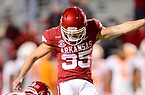 Arkansas kicker A.J. Reed attempts a 48-yard field goal during a game against Tennessee on Nov. 7, 2020 in Fayetteville.