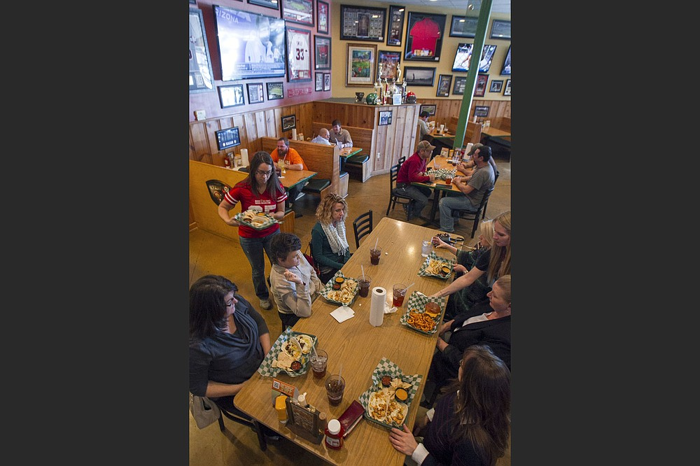 Cafe Prego in the Heights and Beef O'Brady's in Maumelle have been closed for an extended period and could be on the terminal list. (Democrat-Gazette file photos)