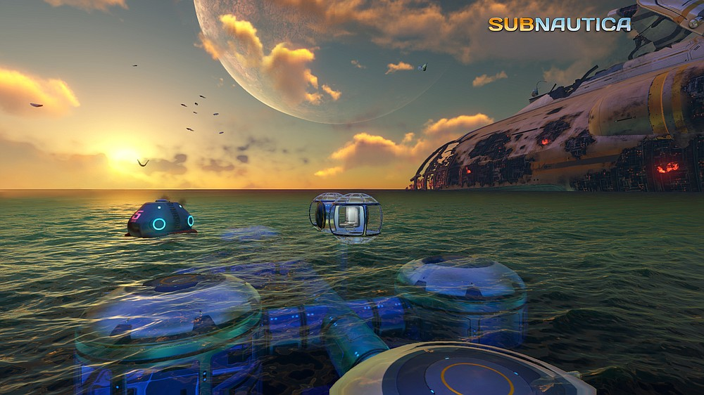 "Dawn breaks on the alien sea in ""Subnautica"" an open world survival action-adventure video game. (Unknown Worlds Entertainment)"