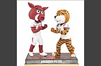 A bobblehead commemorating the Arkansas-LSU football game was unveiled by the National Bobblehead Hall of Fame and Museum.